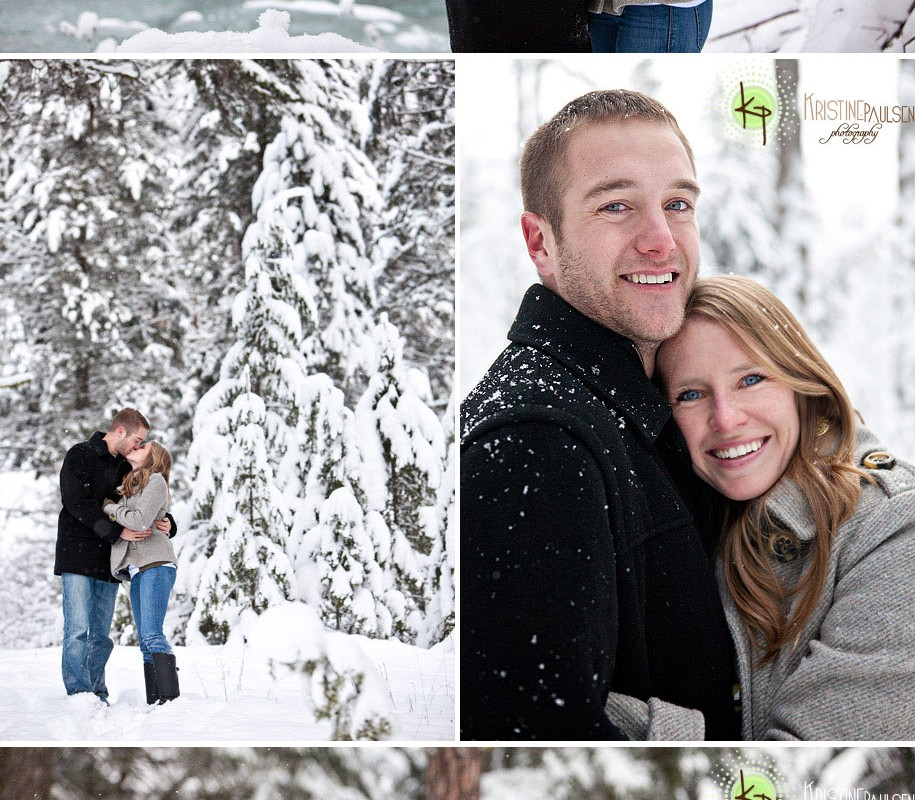 Walking in a Winter Wonderland – {Travis and Siobhan's Missoula Engagement Session}