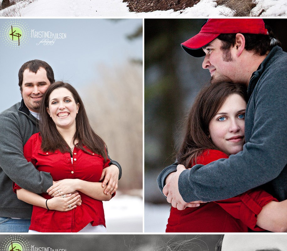 Kisses in the Snow – {Katherine and Mike's Missoula Engagement}