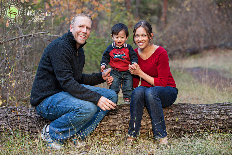 Baby Stomps through the Woods – {Opitz Family Portrait Session}