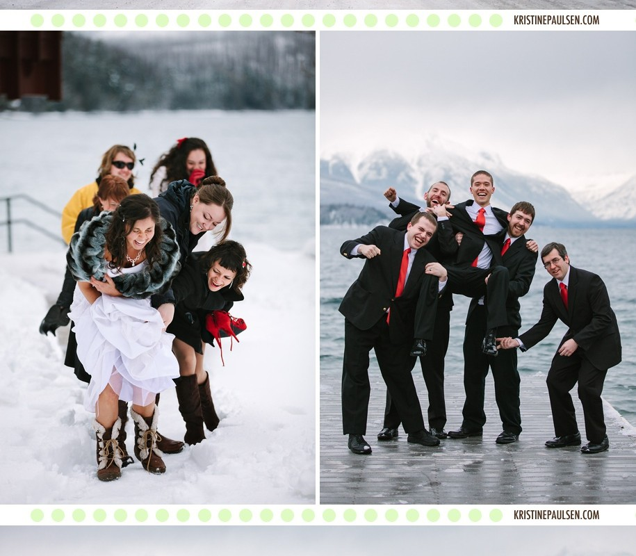Married Amongst the Mountains – {Beth and Andy's Winter Wedding in Glacier, Montana}