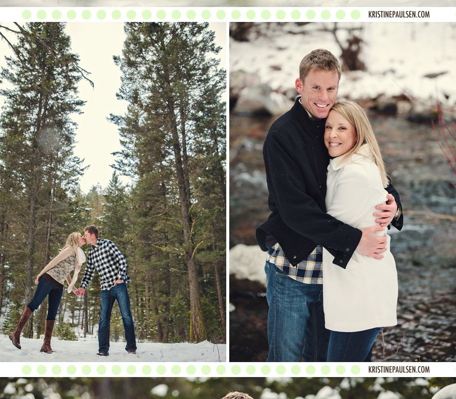 Kisses Amidst the Evergreens – {Brianne and Colin's Missoula Engagement Session}