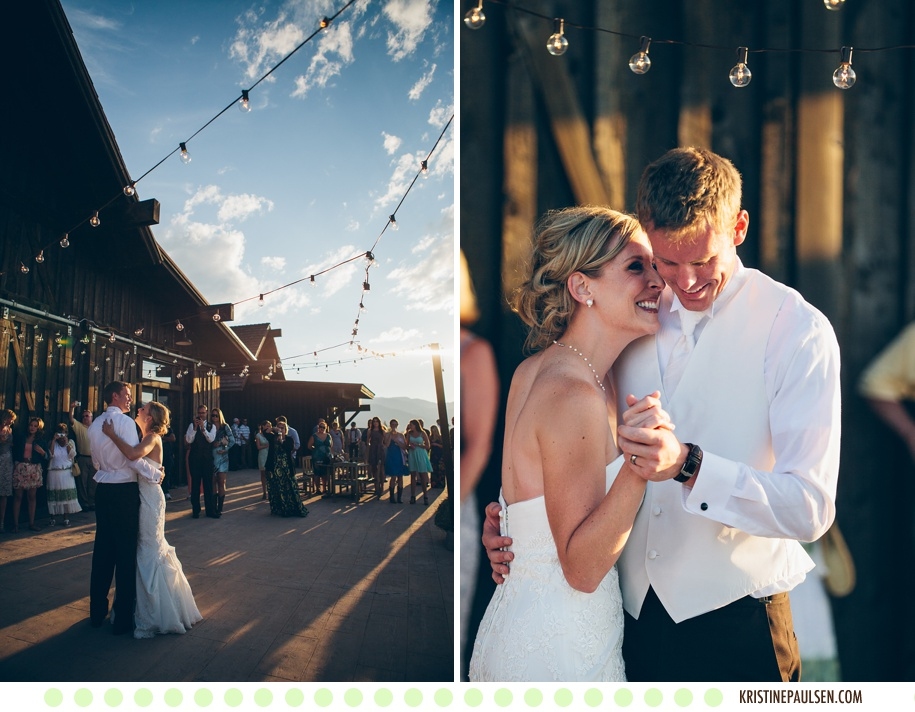 Love Beneath the Big Sky - Brianne and Colin's Missoula, Montana Ranch Club Wedding - Photos by Kristine Paulsen Photography