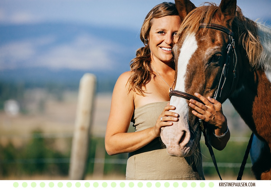 Marty's Corvallis, Montana Portraits with her Horses and her Dog - Photos by Kristine Paulsen Photography