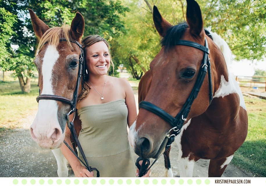A Lovely Lady, Her Horses and Her Dog – {Marty's Corvallis, Montana Portrait Session}