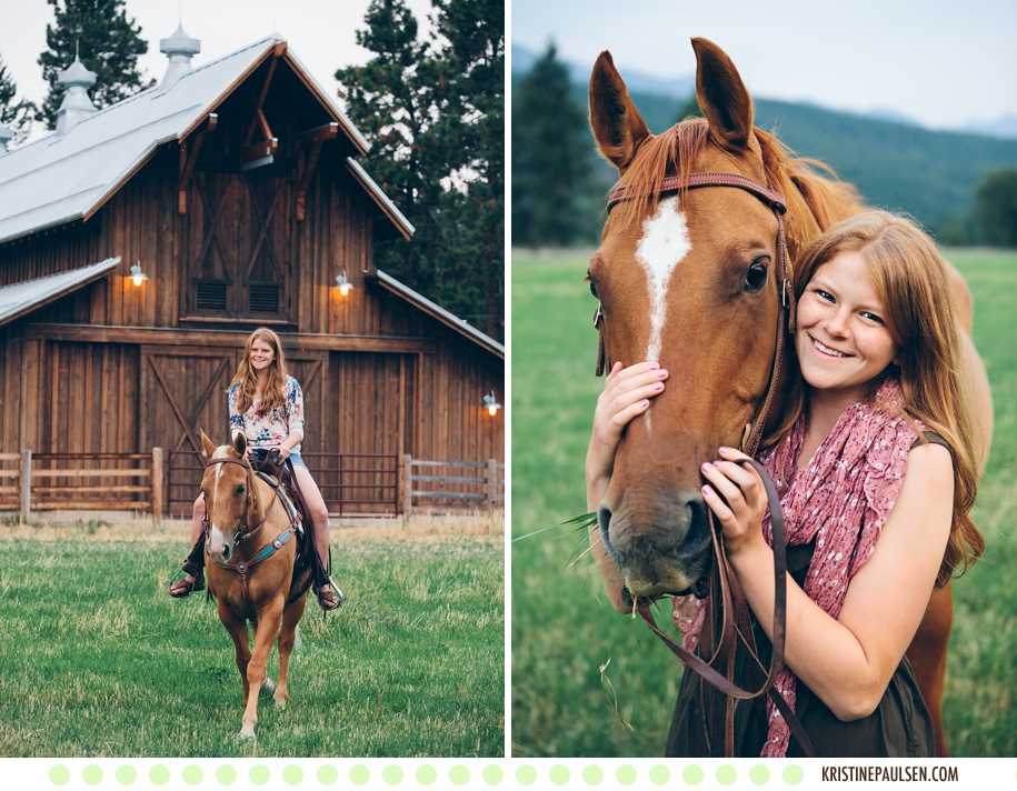 A Fondness for Flathead Lake and a Soft Spot for Horses – {Kristi's Senior Portraits}