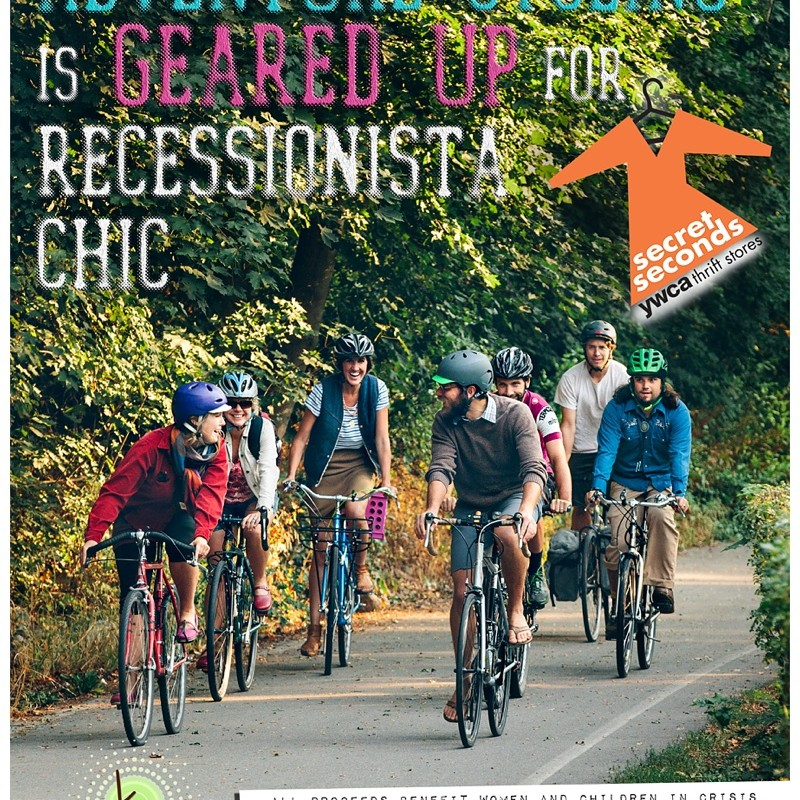 Unveiling the Newest YWCA Recessionista Ads – {Featuring the Stylings of the ZACC and Adventure Cycling}