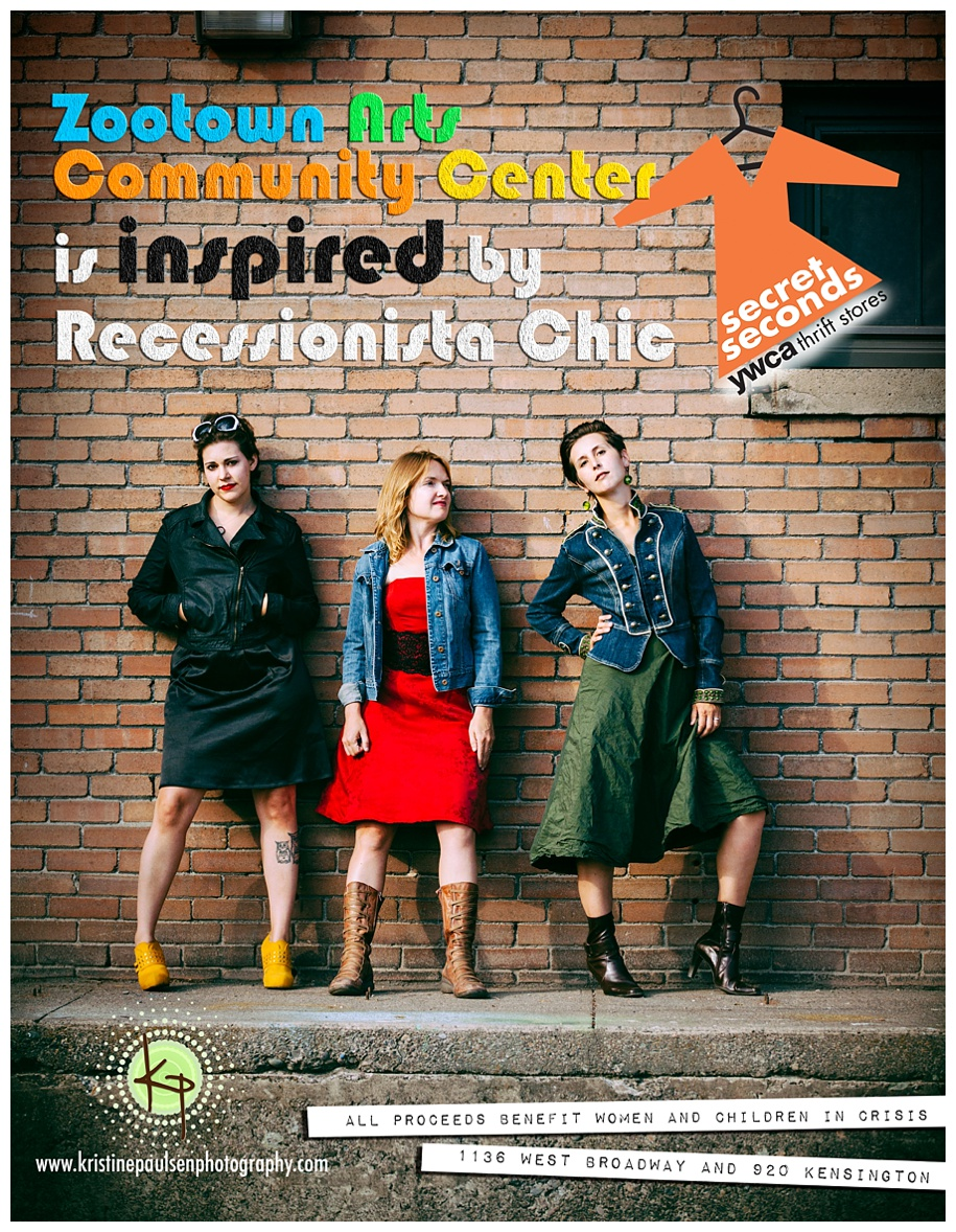 The ZACC is inspired by Missoula YWCA Recessionista Chic - Photo and Ad Design by Kristine Paulsen Photography
