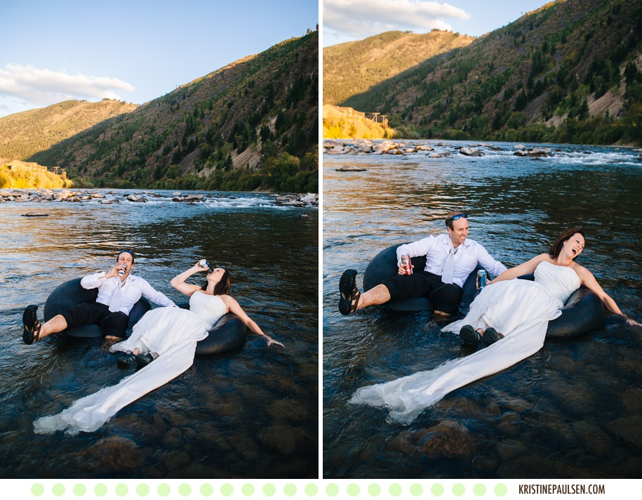 These are a few of their Favorite Things - Dusty and Tom's Missoula, Montana Rock the Dress Session - Photos by Kristine Paulsen Photography