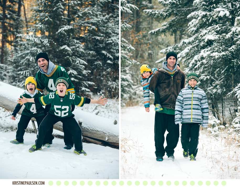 Father and Sons – {The Sandberg Family's Wintry Photo Session}