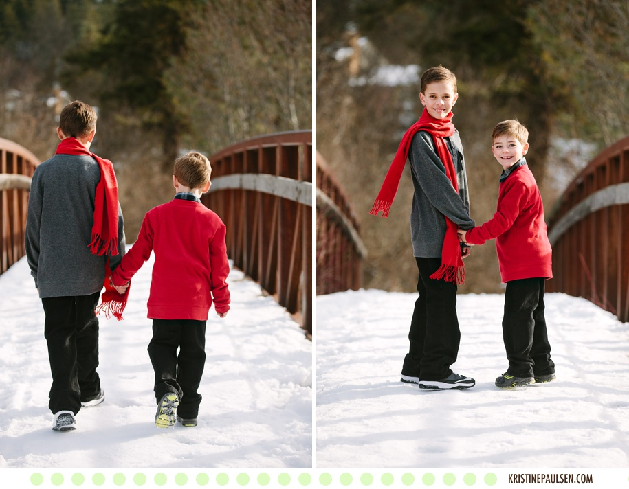 Sunshine and Snow – {The Campbell & Bravard Families' Missoula Portraits}