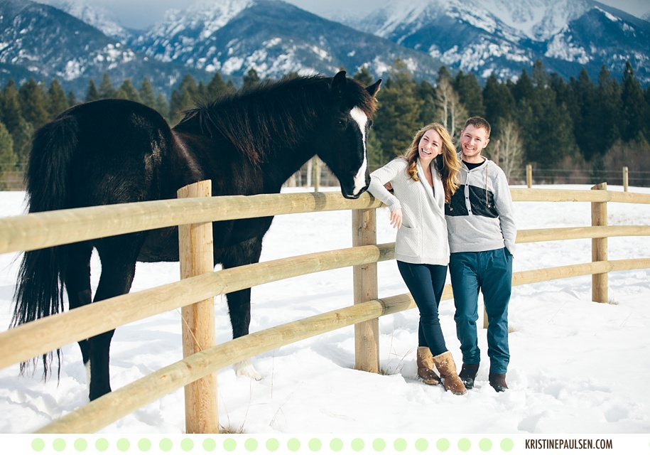 Winter in the Mountains – {Kristeen & Colt's Montana Portrait Session at Sky Ridge Ranch}