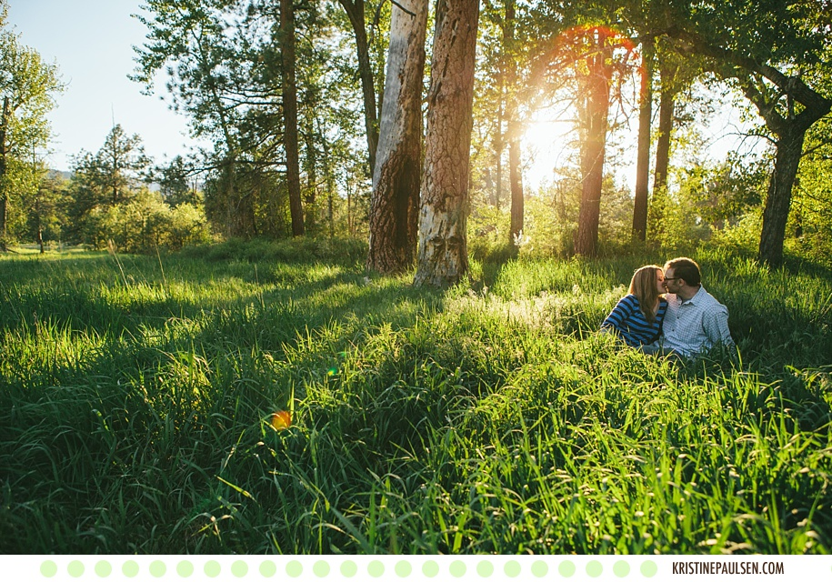 Love in the Springtime :: {Christine and Pete's Missoula Engagement Session}