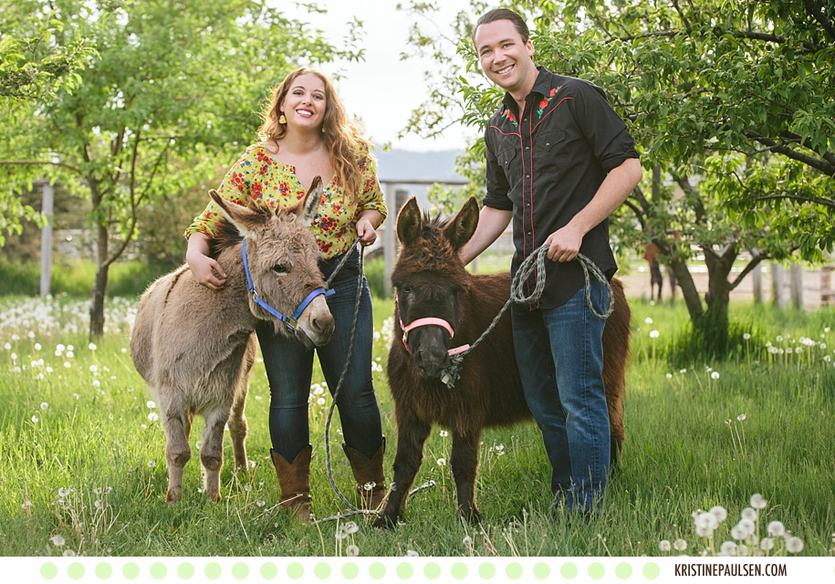 Ponies, Donkeys and Dogs, Oh My! :: {Abby and Jeff's Lolo, Montana Ranch Engagement Session}