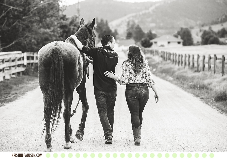 Ponies, Donkeys and Dogs, Oh My! :: {Abby and Jeff's Lolo, Montana Engagement Session} - Photos by Kristine Paulsen Photography