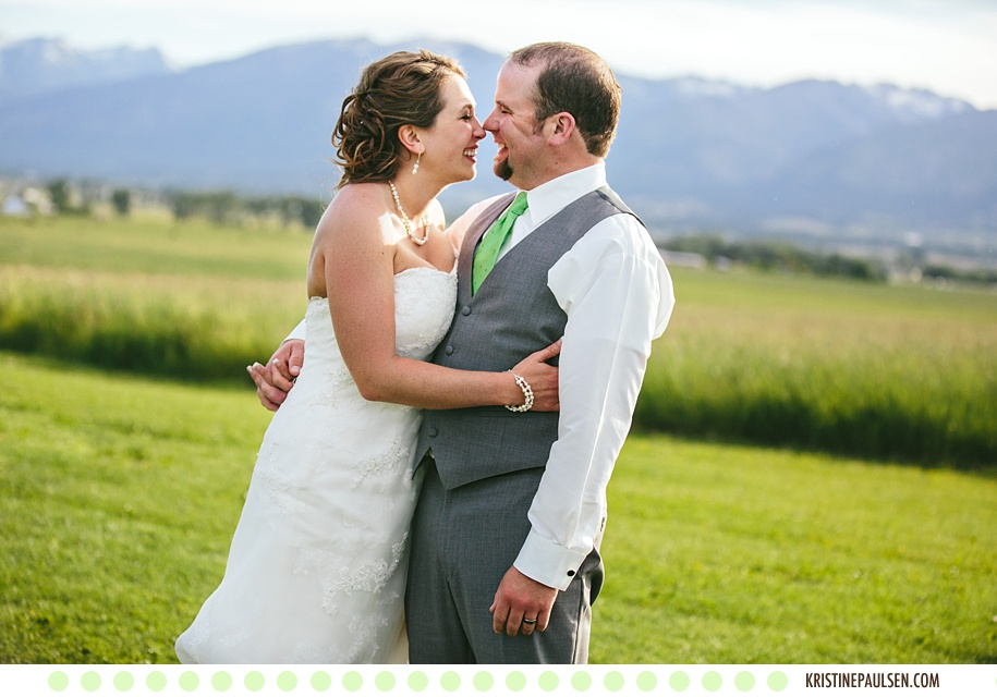 A Love as Bright and Beautiful as the Big Sky :: Stephanie and Danny's Wedding at the Flying Horse Ranch in Corvallis, Montana - Photos by Kristine Paulsen Photography