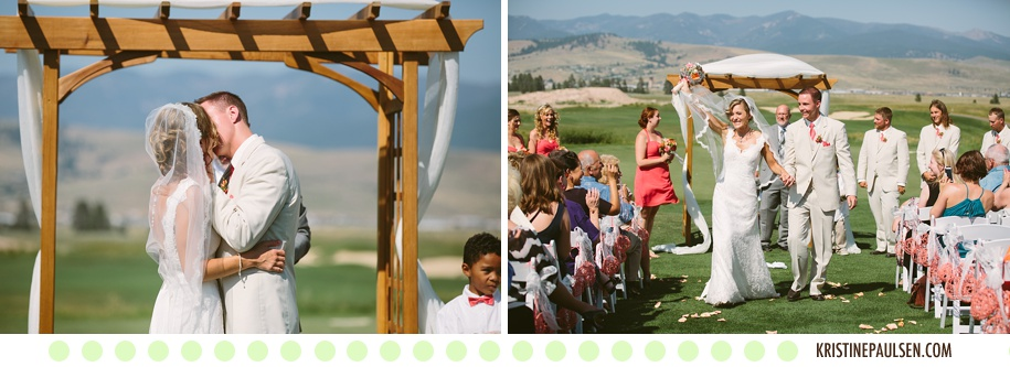 Radiant Amidst the Rolling Hills :: Raina and Danny's Missoula Wedding at the Ranch Club - Photos by Kristine Paulsen Photography