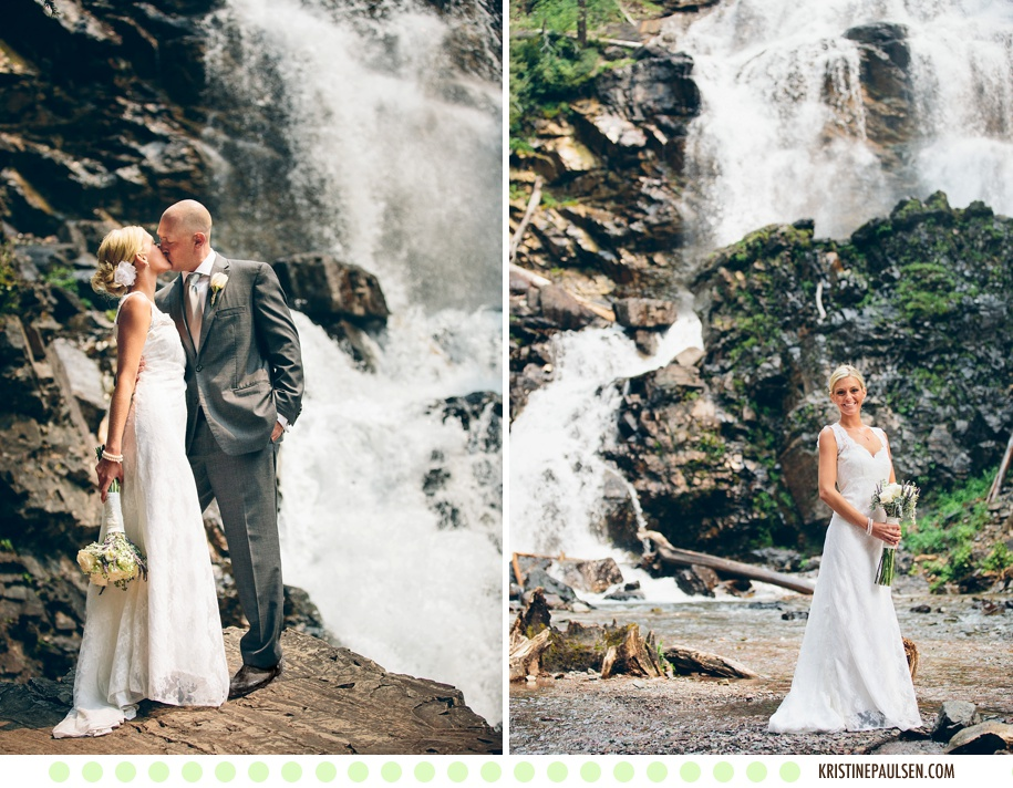 The Mountains are Calling :: Megan and Zach's Montana Waterfall Wedding in Seeley Lake :: Photos by Kristine Paulsen Photography