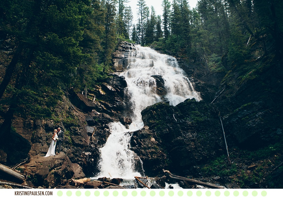 The Mountains are Calling :: Megan and Zach's Montana Waterfall Wedding