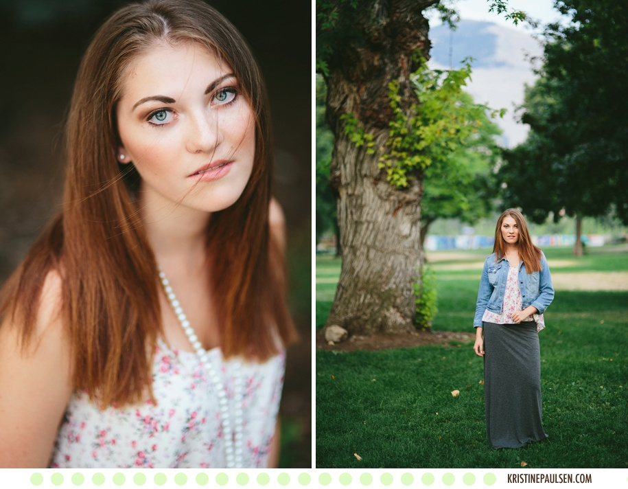 Converse Kicks and Prom Dress Prettiness :: Miranda's Missoula Senior Portraits :: Photos by Kristine Paulsen Photography