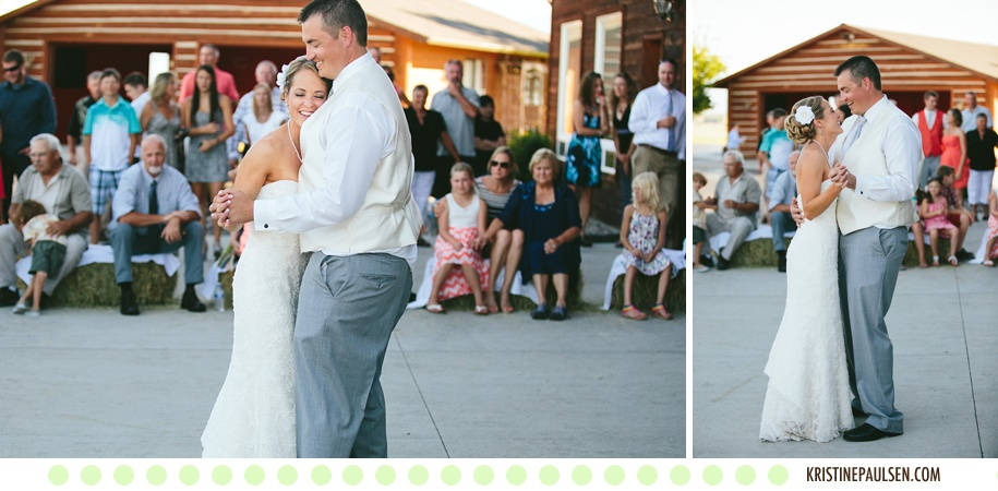 Bare Feet and Sunset Kisses :: Sarah and Jordan's Flying Horse Ranch Wedding in Corvallis, Montana :: Photos by Kristine Paulsen Photography