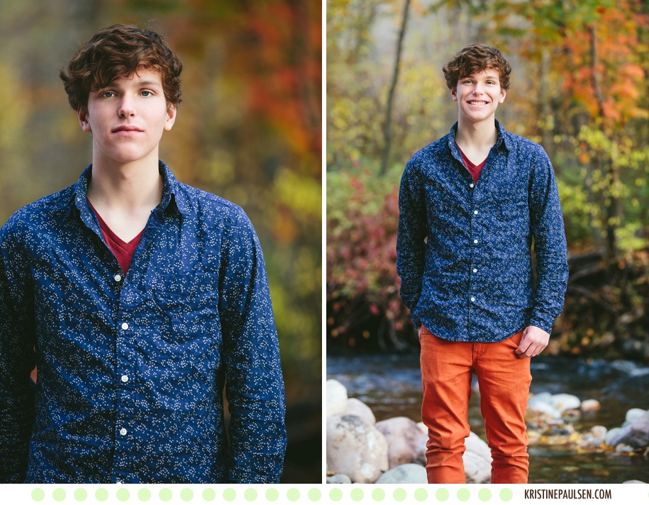 Brilliant Autumn Days :: {Hugh's Missoula Senior Pictures}