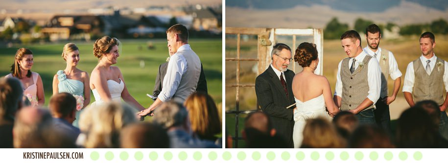 Sunsets, Mountains & Love :: Betsy & Cameron's Missoula, Montana Ranch Club Wedding - Photos by Kristine Paulsen Photography