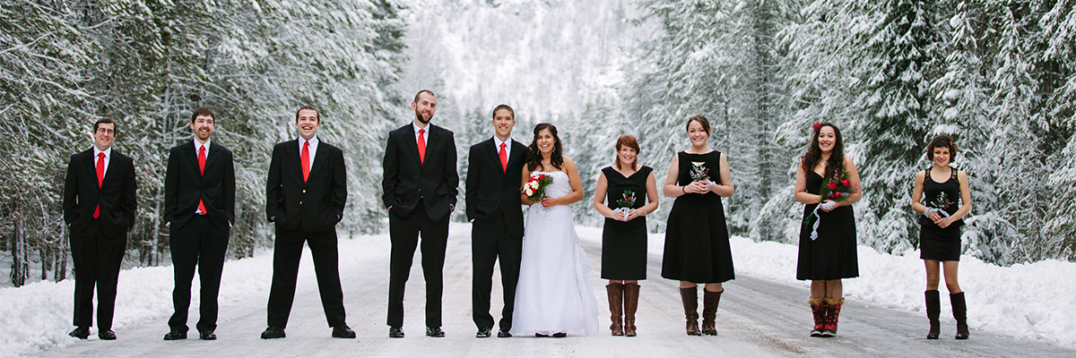 Winter Glacier Park Wedding - by Kristine Paulsen Photography