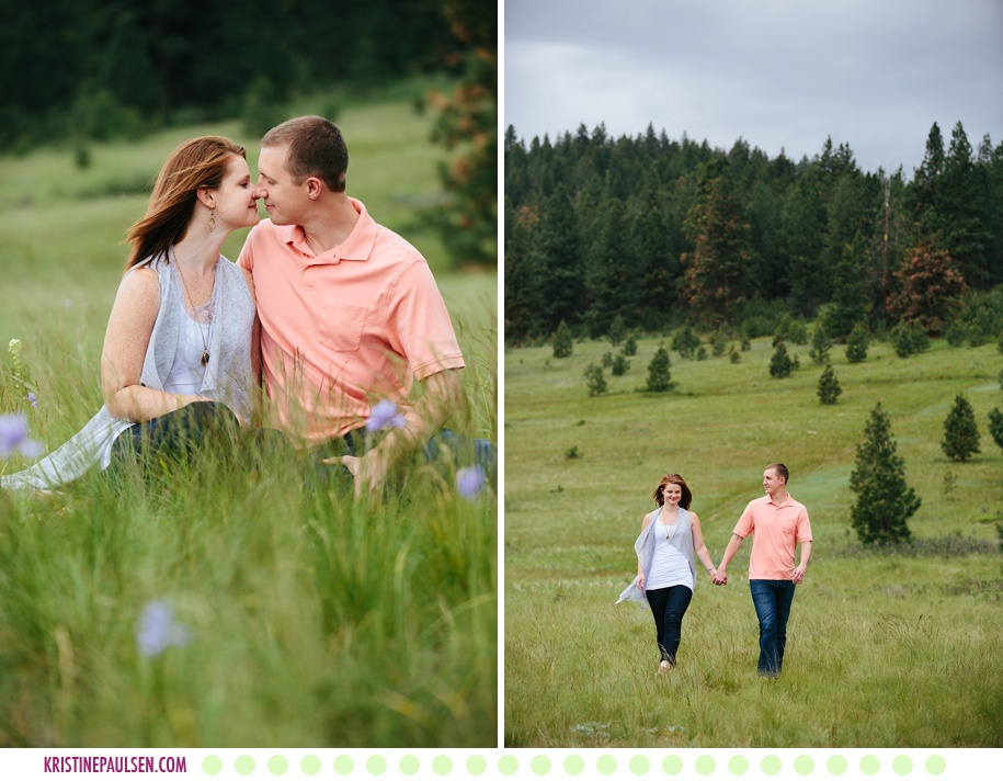 Emily + John :: Missoula, Montana Springtime Engagement Session in the Mountains - Photos by Kristine Paulsen Photography