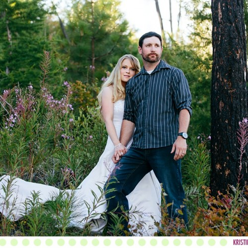 Megan + Scott :: Missoula Montana Rock the Dress Session - Photos by Kristine Paulsen Photography