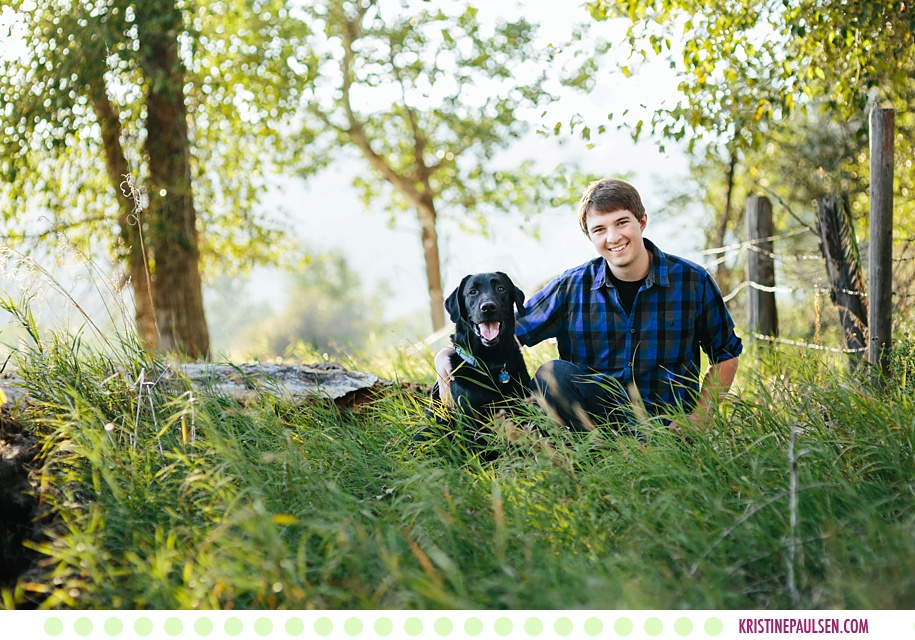 Sean :: Senior Photos along the River in Lolo Montana - Photos by Kristine Paulsen Photography