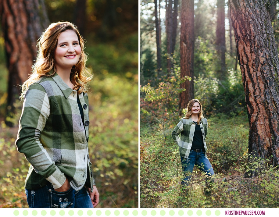 Kaeleigh :: Missoula Montana Senior Pictures in the Forest