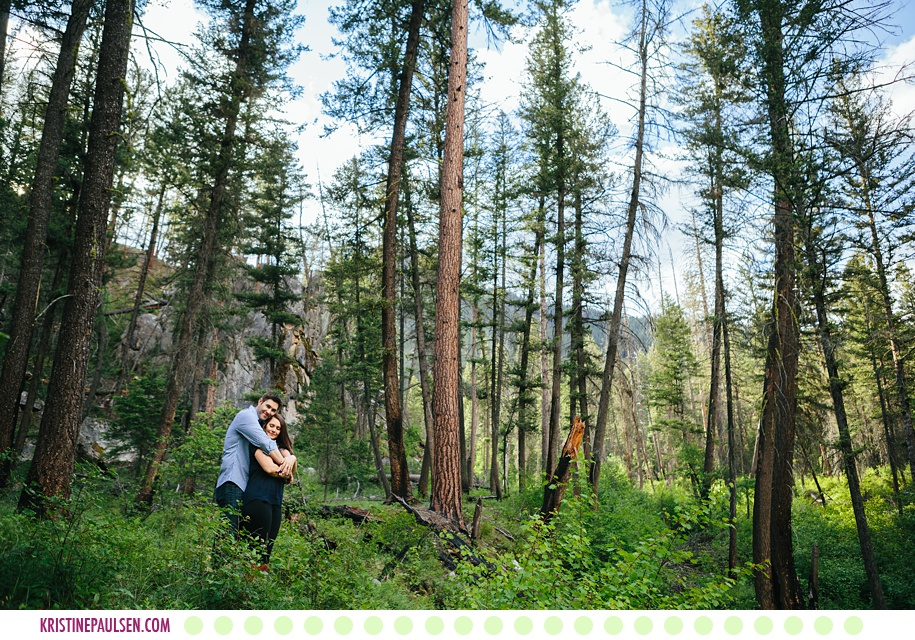 Katie + Anthony :: Rock Creek Montana Engagement Session - Photos by Kristine Paulsen Photography