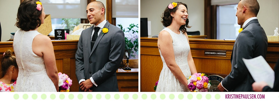 Courtney + Branden :: Missoula Courthouse Wedding - Photos by Kristine Paulsen Photography