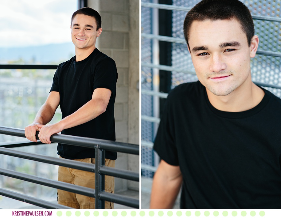 Nick :: Downtown Urban Senior Photos in Missoula Montana - Photos by Kristine Paulsen Photography