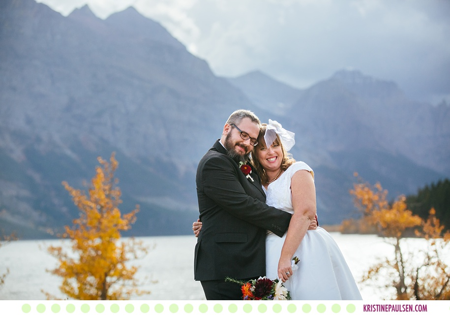 Katie + Lee :: Lake Josephine Glacier Wedding