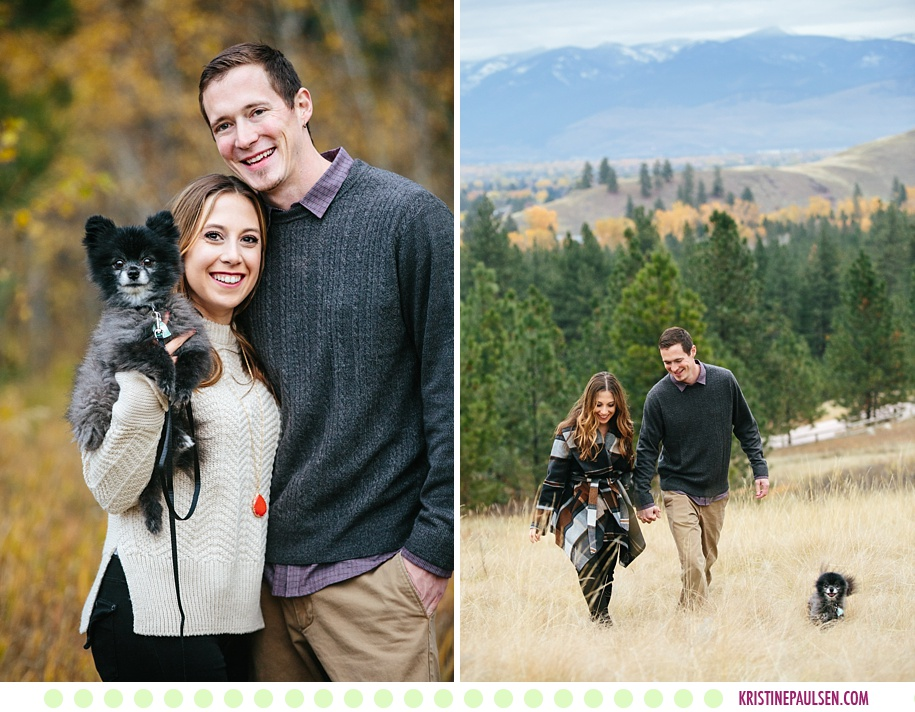 Haley + Kevin :: Autumn Engagement Photos in Missoula Montana