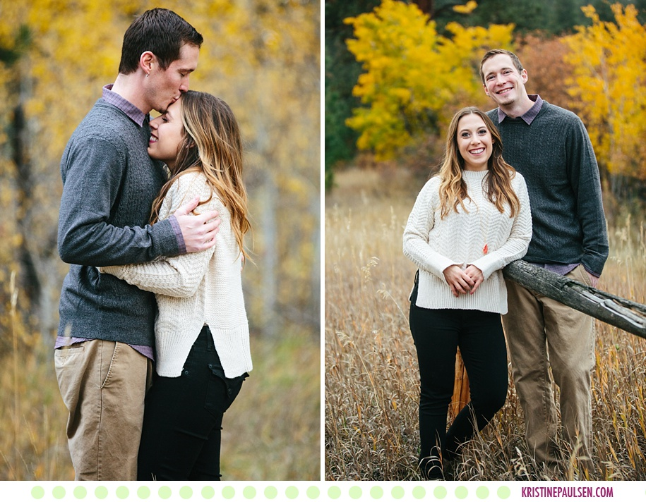 Haley + Kevin :: Autumn Engagement Photos in Missoula Montana - Photos by Kristine Paulsen Photography