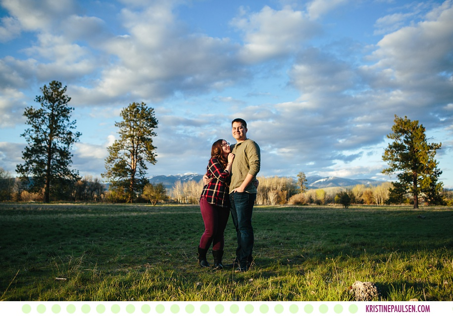 Christine + Anders :: Missoula Montana Springtime Engagement - Photos by Kristine Paulsen Photography