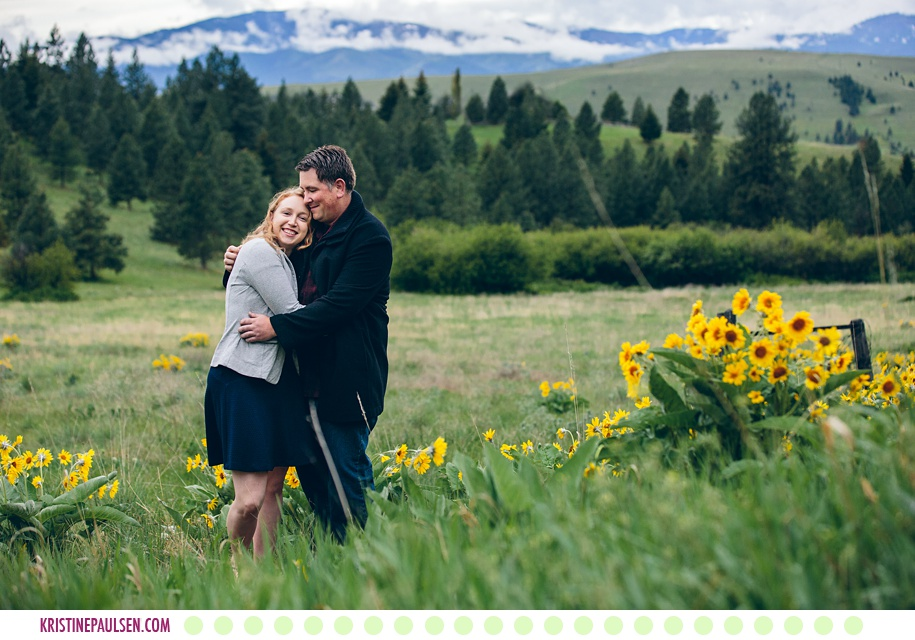 Andrea + Mike :: Spring Engagement Session in the Missoula Hills