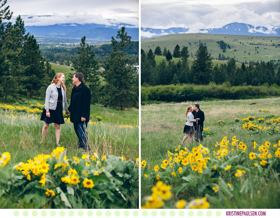 Andrea + Mike :: Spring Engagement Session in the Missoula Hills - Photos by Kristine Paulsen Photography