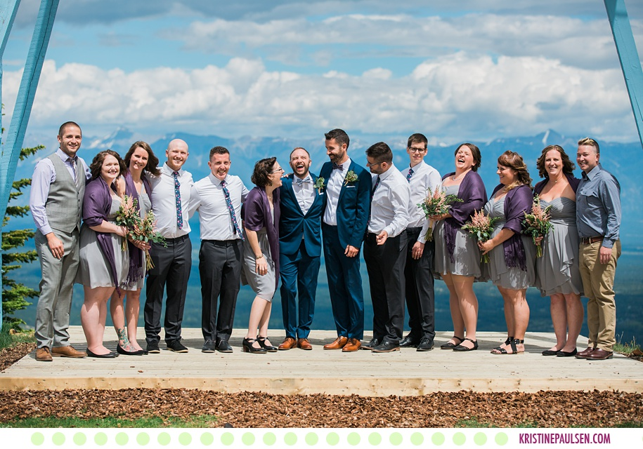 Jackson + Logan :: Kimberley Alpine Resort Wedding in British Columbia Canada - Photos by Kristine Paulsen Photography