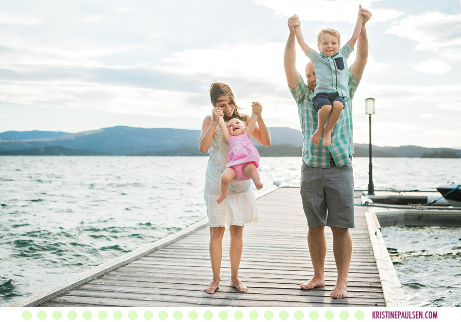 Tim, Courtney, Teddy, Violet, Bill and Lorie :: Flathead Lake Family Portraits in Polson Montana - Photos by Kristine Paulsen Photography