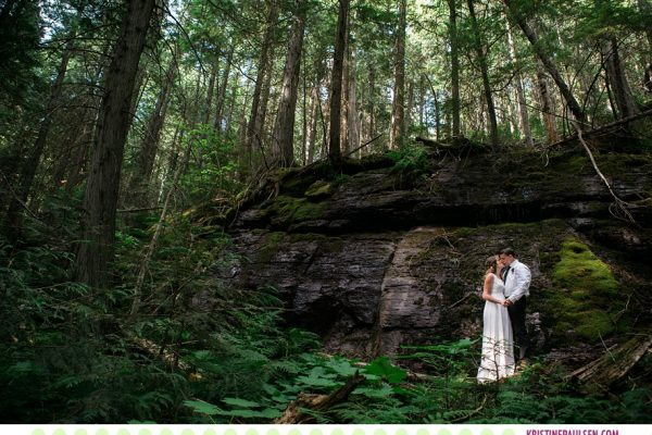 Leah + Rob :: Elopement in Glacier National Park - Photos by Kristine Paulsen Photography