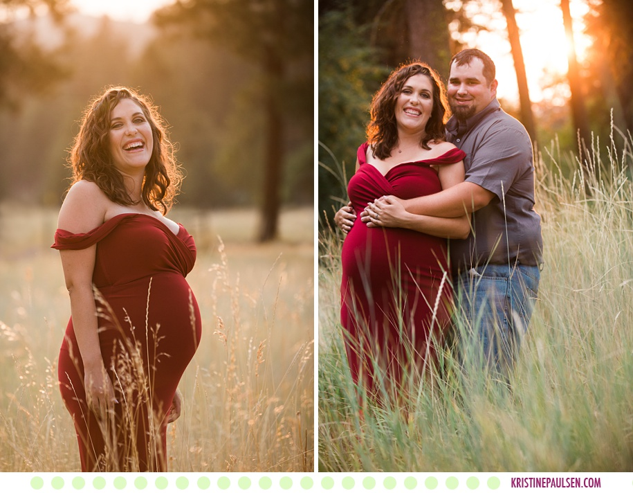 Katie + Mike :: Missoula Maternity Photos - Images by Kristine Paulsen Photography