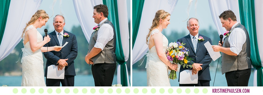 Andrea + Mike :: Wedding on Flathead Lake in Polson Montana - Photos by Kristine Paulsen Photography