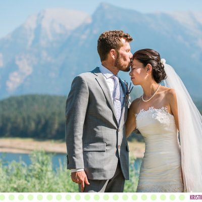 Aika + Rob :: St Ignatius Montana Intimate Garden Wedding - Photos by Kristine Paulsen Photography