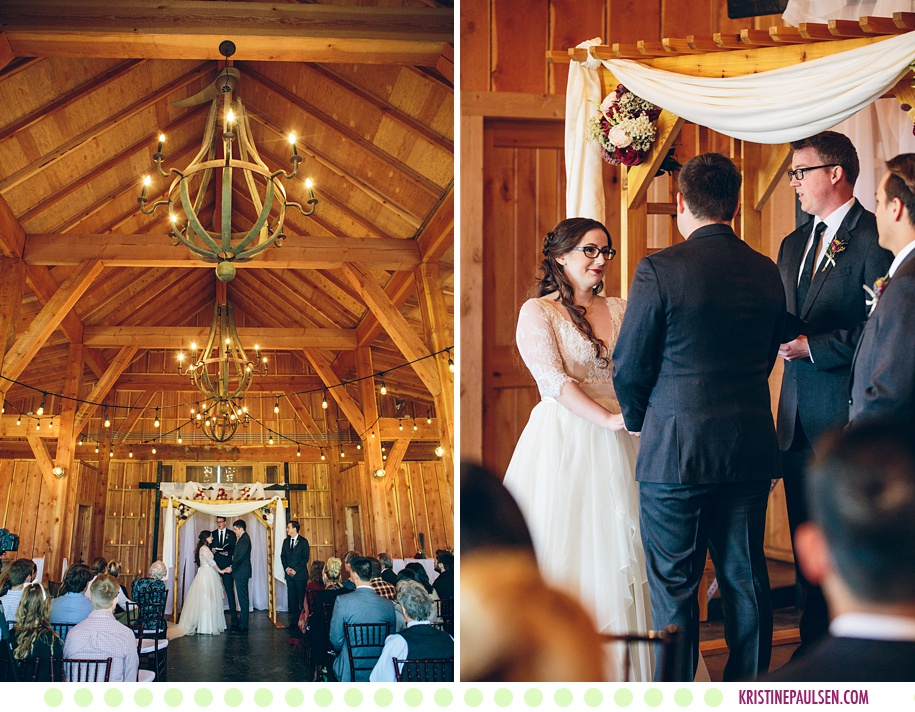 Christine + Anders :: Autumn Wedding at The Barn on Mullan in Missoula Montana - Photos by Kristine Paulsen Photography