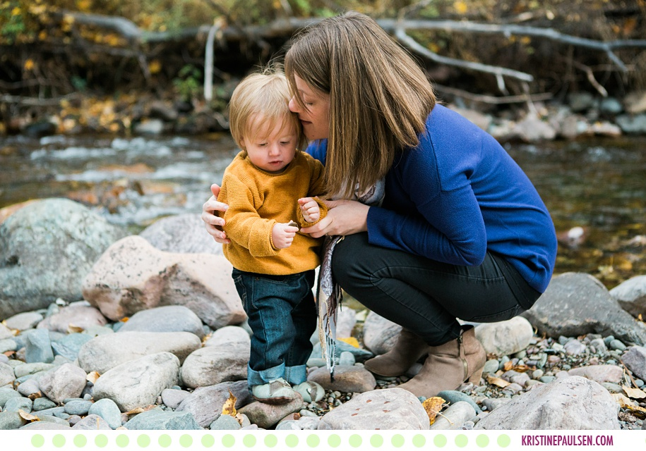 Christy, Neil + Rowan :: Missoula Fall Family Photos - Photos by Kristine Paulsen Photography