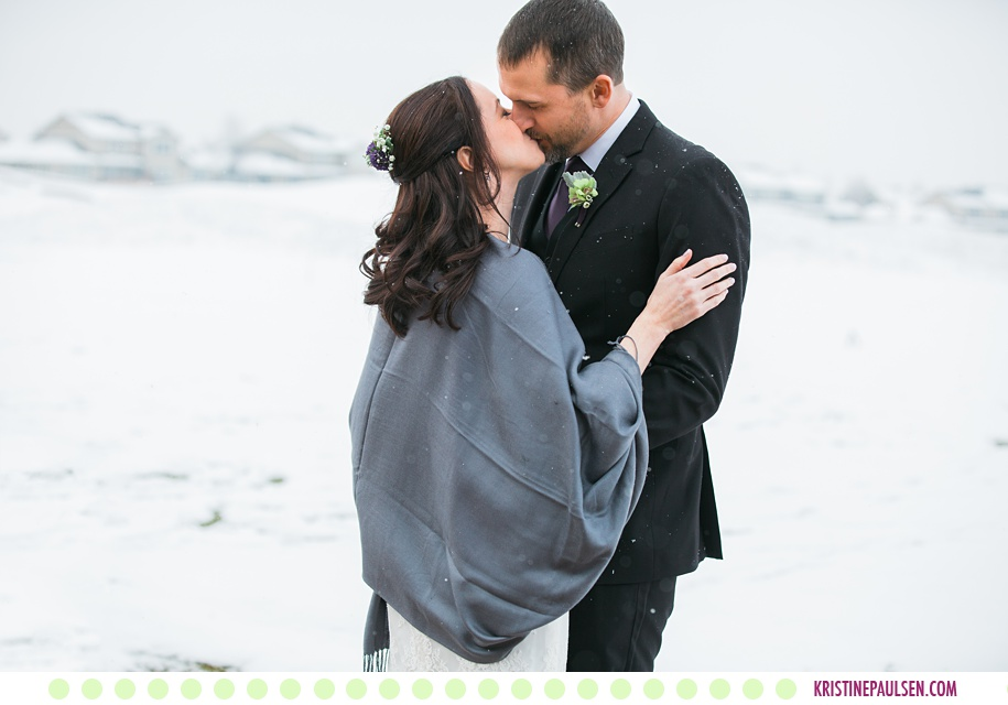 Becka + Stephan :: Snowy Wedding at the Barn on Mullan - Photos by Kristine Paulsen Photography