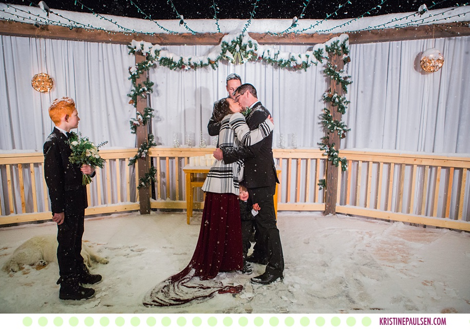 Mariah + Caleb :: Snowy Victor Montana Wedding - Photos by Kristine Paulsen Photography